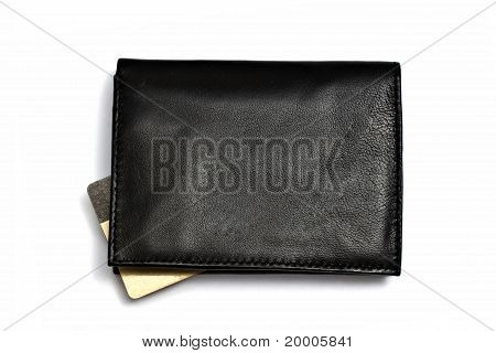 Black Wallet With Credit Card