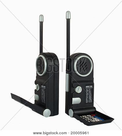 Two black Portable radio sets