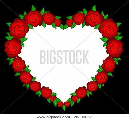 Beautiful heart from roses