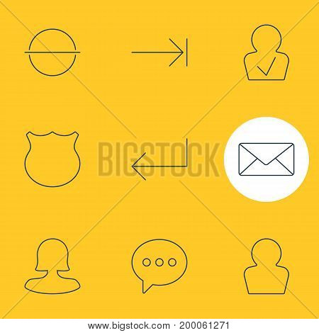 Editable Pack Of Remove, Envelope, Guard And Other Elements.  Vector Illustration Of 9 UI Icons.