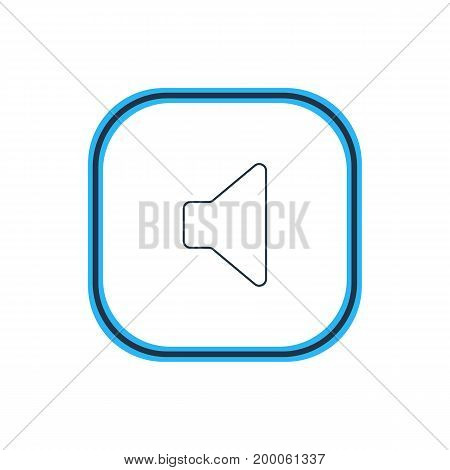 Beautiful Melody Element Also Can Be Used As Speaker  Element.  Vector Illustration Of Megaphone Outline.