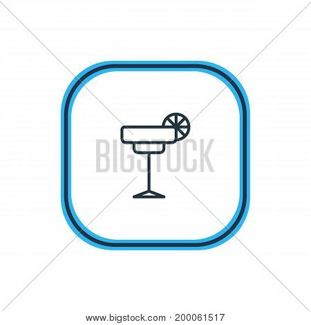 Beautiful Party Element Also Can Be Used As Martini Element.  Vector Illustration Of Cocktail Outline.