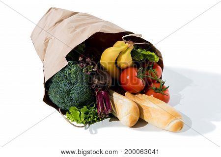 Healthy Food In Grocery Bag