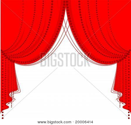 Vector opening color curtain