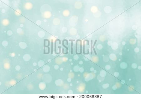 Abstract background with bokeh effect. Vector delicate backdrop. Gentle image blur. Subtle defocused wallpaper. Soft gradient. Blue.