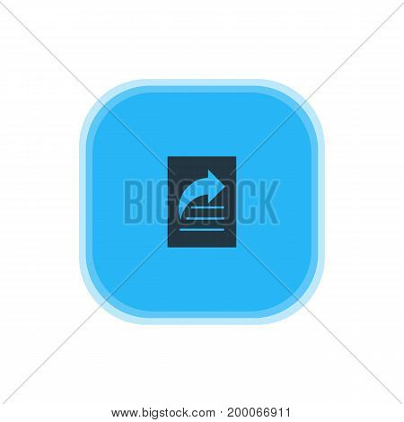 Beautiful Online Element Also Can Be Used As Document Transfer Element.  Vector Illustration Of Share Icon.