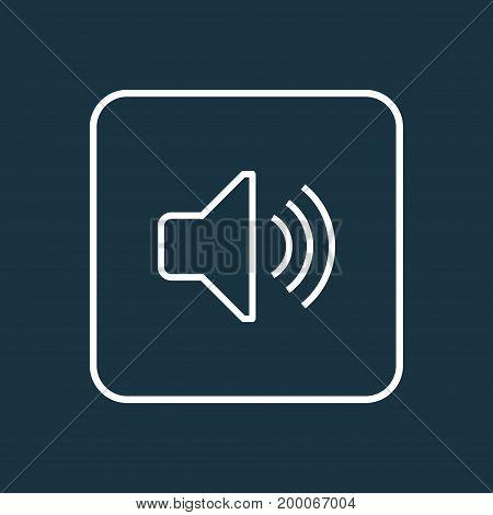 Premium Quality Isolated Audio Level Element In Trendy Style.  Volume Outline Symbol.