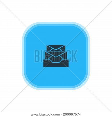 Beautiful Internet Element Also Can Be Used As Messages Element.  Vector Illustration Of Inbox Icon.