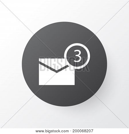 Premium Quality Isolated Inbox Element In Trendy Style.  Notification Icon Symbol.