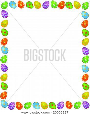 Decorative frame of painted Easter egg Easter card vector
