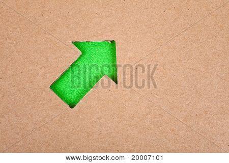 Arrow Sign And Cardboard