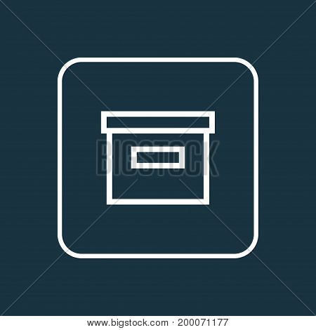 Premium Quality Isolated Archive Element In Trendy Style.  Base Outline Symbol.