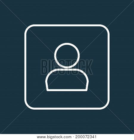 Premium Quality Isolated Profile Element In Trendy Style.  Personal Data Outline Symbol.