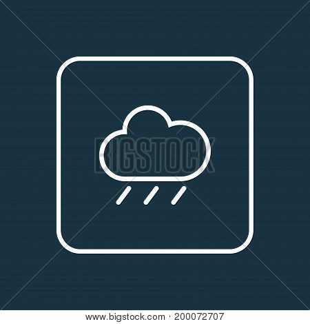 Premium Quality Isolated Rain Element In Trendy Style.  Rainfall Outline Symbol.