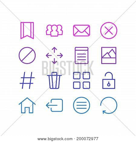 Editable Pack Of Document, Exit, Picture And Other Elements.  Vector Illustration Of 16 Application Icons.