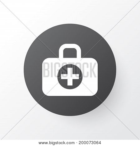 Premium Quality Isolated Surgical Bag Element In Trendy Style.  Aid Icon Symbol.