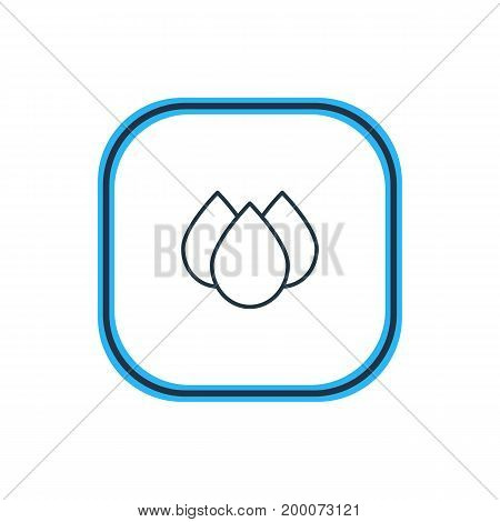 Beautiful Medical Element Also Can Be Used As Trickle Element.  Vector Illustration Of Drip Outline.