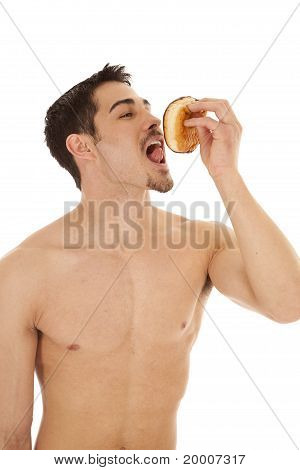 Man Ready To Lick Doughnut