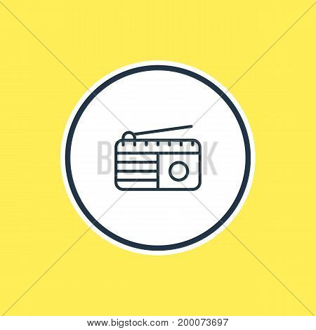 Beautiful Marketing Element Also Can Be Used As Fm Broadcasting Element.  Vector Illustration Of Radio Outline.