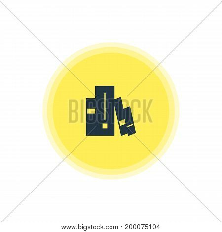 Beautiful Web Element Also Can Be Used As Bookshelf Element.  Vector Illustration Of Library Icon.