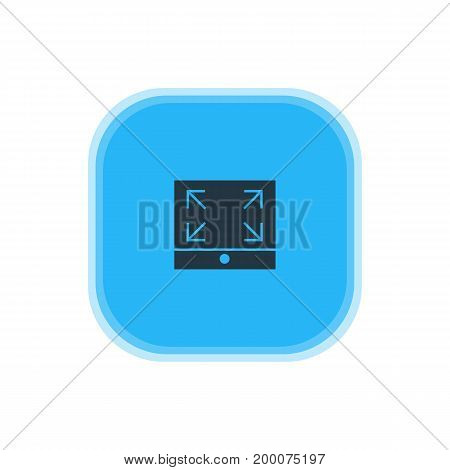 Beautiful Online Element Also Can Be Used As Maximize Element.  Vector Illustration Of Full Screen Icon.