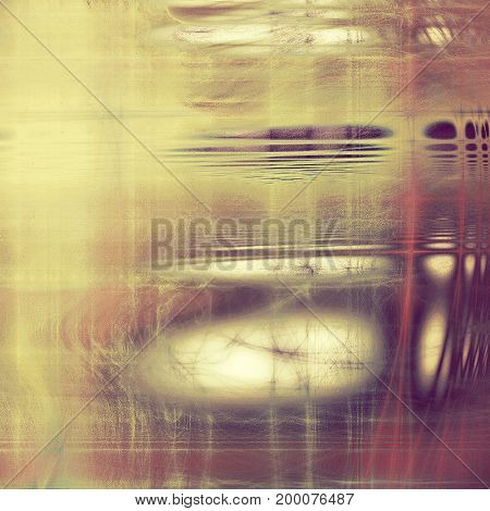 Vintage texture, old style frame decoration with grunge graphic elements and different color patterns