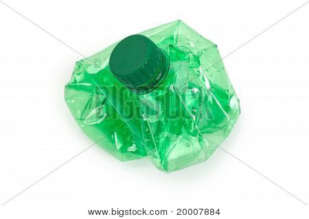 Crushed Green Water Bottle