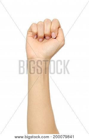 Woman's Hand With Incorrect Fist Gesture