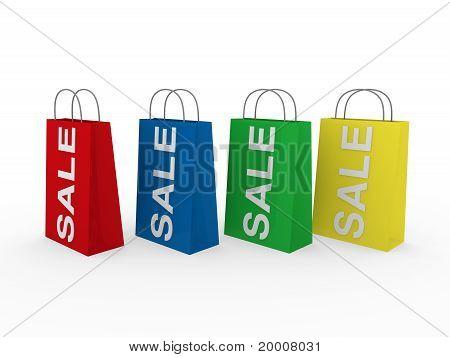 3D Sale Bag Colorful