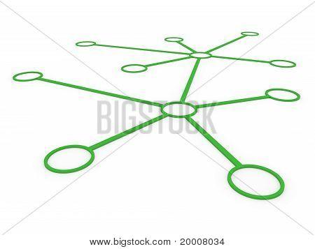 3D Network Green