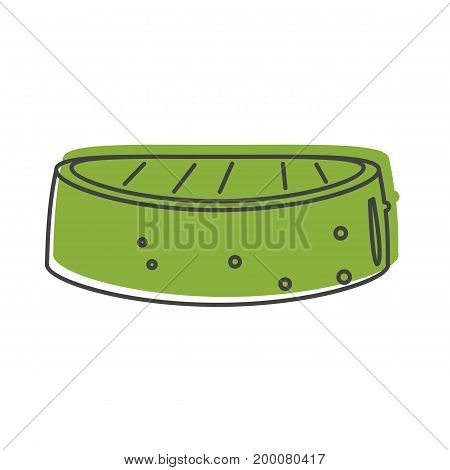 Grilled cucumber in doodle style isolated on white background barbeque object for summer party barbeque design