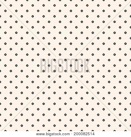 Vintage seamless pattern with small circles tiny perforated rounded shapes. Simple stylish geometric texture. Monochrome polka dot background. Repeat design for prints, fabric, textile, linens, wrap.