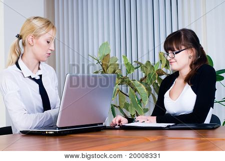 Meeting of young business ladies