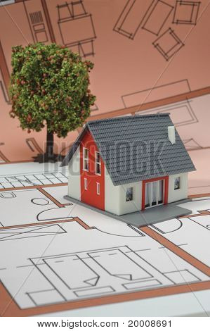 house on architecture blueprint plan