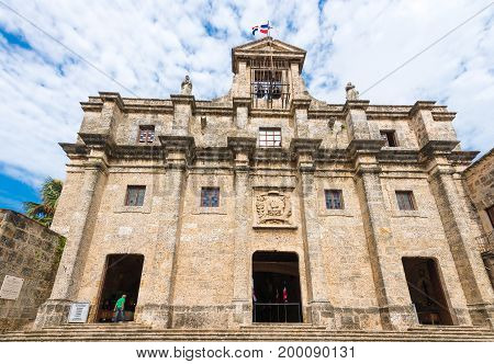 View of the building National Pantheon Santo Domingo Dominican Republic. Copy space for text