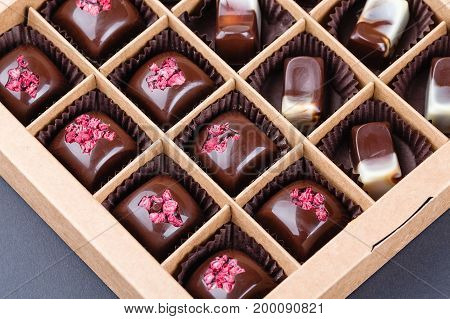 Set Of Luxury Handmade Chocolate Bonbons