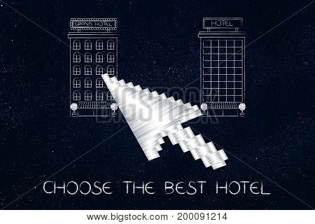Cursor About To Click On A Hotel To Book Online