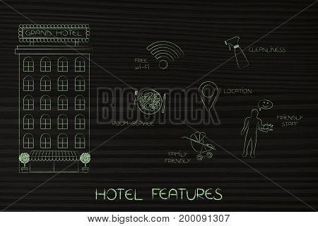 Hotel Next To Icons Of Its Man Service Features