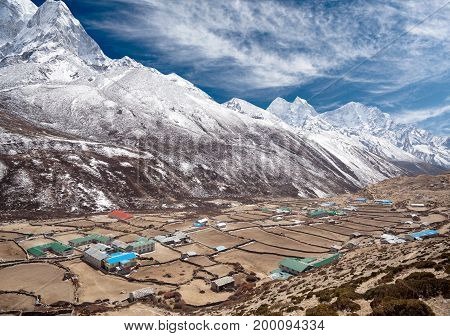 Dingboche village in Sagarmatha national park, Everest Region, Nepal
