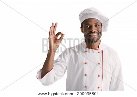 Chef Showing Okay Sign