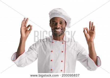 Chef Showing Okay Signs