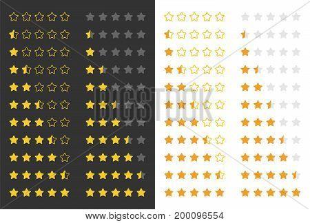 stars rating set, vector illustration design element