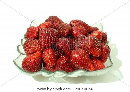 A heap of strawberries