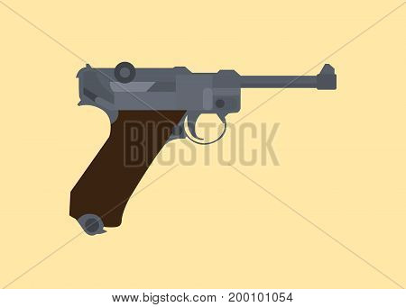luger german ww2 world war 2 iconic pistols isolated vector