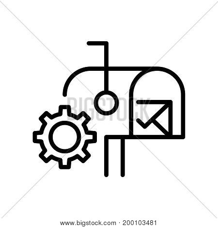 Premium mail icon or logo in line style. High quality sign and symbol on a white background. Vector outline pictogram for infographic, web design and app development.