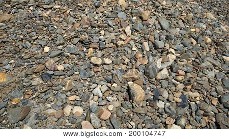 small stones of different color and size texture