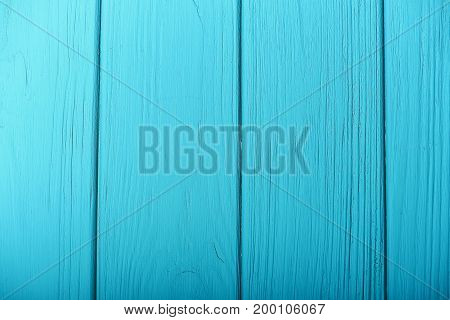 blue turquoise wooden background top view copy space