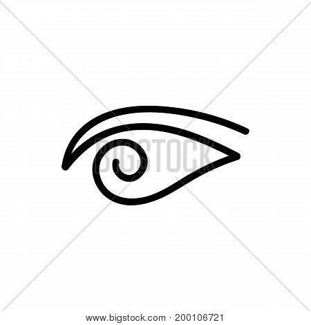 black eye doodle logo. concept of human, security, find, caring, navigation, lens, cosmetology, drops, cure. isolated on white background. sketch style trend modern logotype design vector illustration