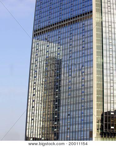 mirror image of a building