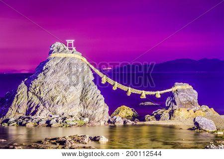 Meoto Iwa Rock of Ise, Japan.